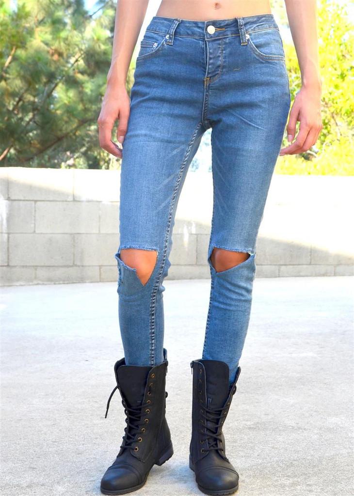 Knee deep skinnies – shopcivilized