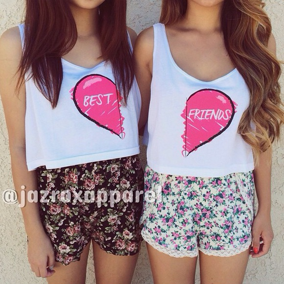 heart bestfriend pink girlish girly girl swagg