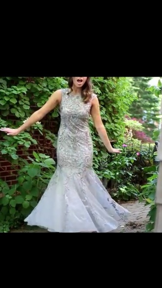 grey dress prom dress formal dress gown evening dress
