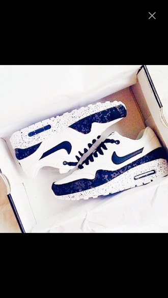 shoes blue and white nike airmax 90's
