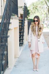 m loves m,blogger,fur collar coat