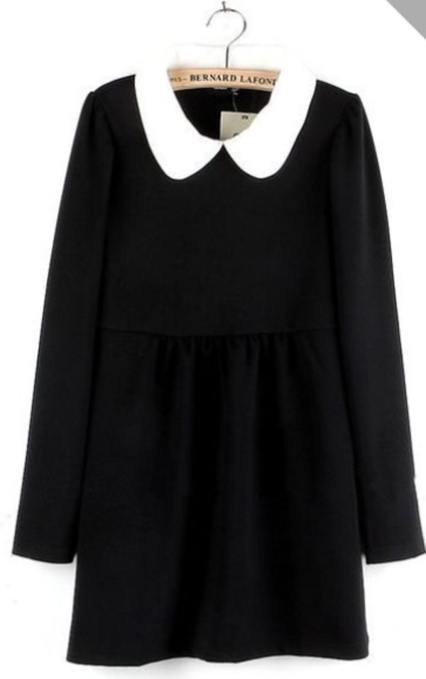 dress black collar
