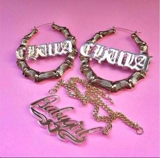 earrings gold fancylovejewels earrings gold necklace dope