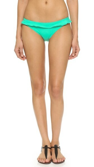 bikini bikini bottoms ruffle mint swimwear