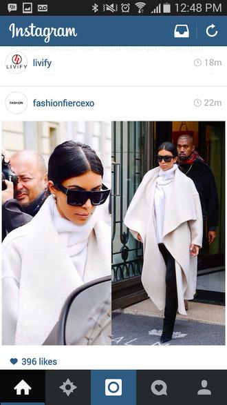 kim kardashian wrap coat coat