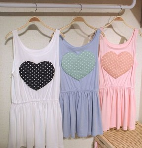 dress heart heart dress pink blue white