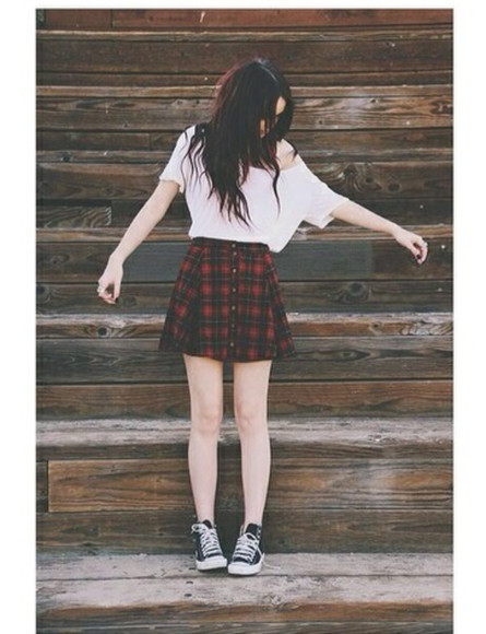 skirt girly grunge