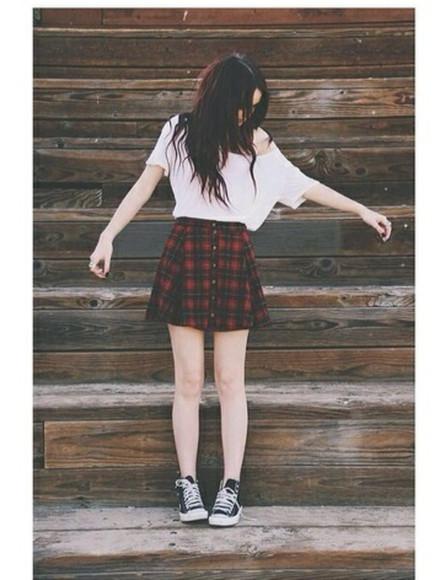 skirt girly grunge