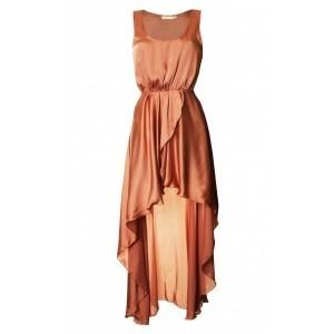 LOVE Peach Asymmetrical Maxi Dress - Polyvore