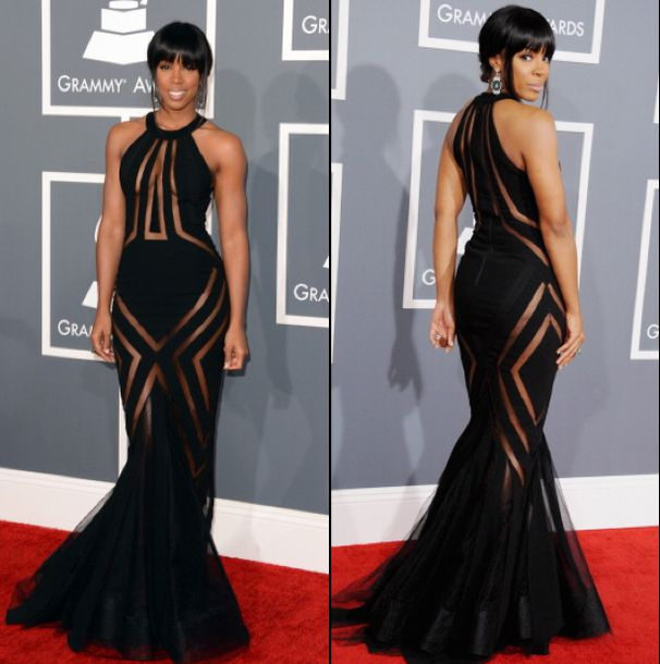 dress, mesh dress, kelly rowland, black dress, black evening gowns ...