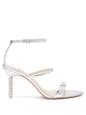 embellished,sandals,leather sandals,silver,leather,shoes