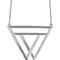Gypsy warrior - lunar triangle necklace - silver
