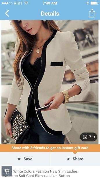 acquista per genuino numerosi in varietà prezzo più economico jacket, black and white blazer, women, ladies, suit - Wheretoget