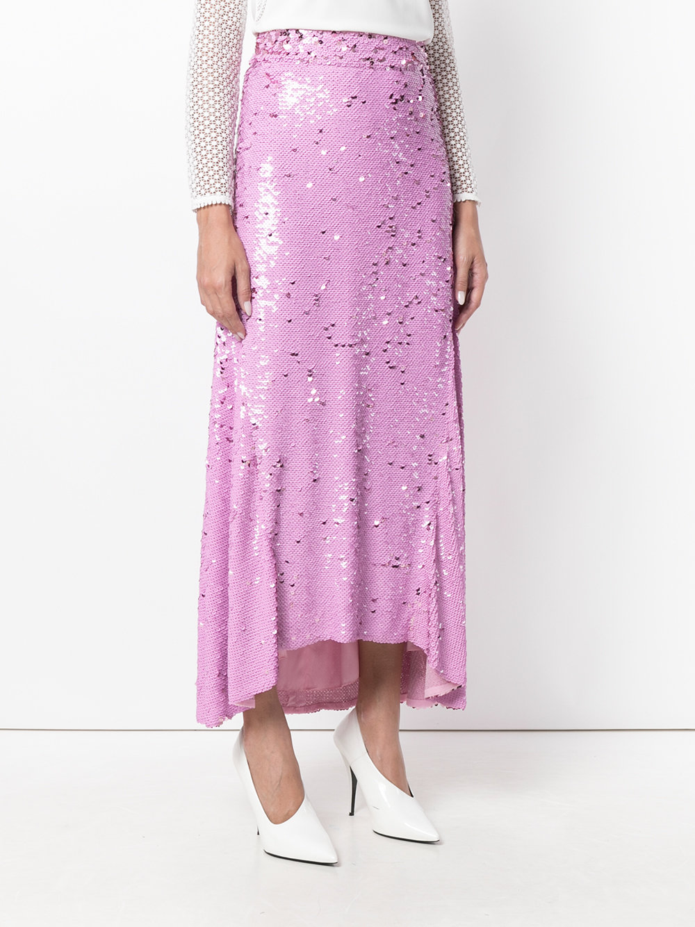 Nina Ricci Draped Sequined Skirt - Farfetch