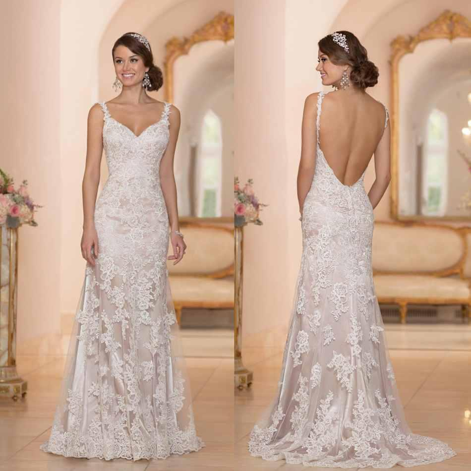 Wholesale a line wedding dresses buy 2015 sexy backless for Wedding dresses lace back