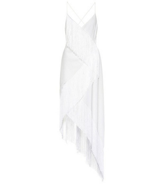 Givenchy Fringed wool dress in white