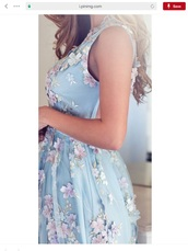 dress,sky blue