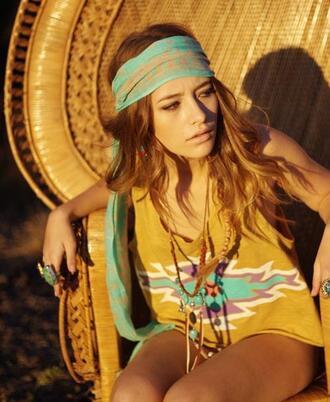 top hippie native american aztec boho bohemian