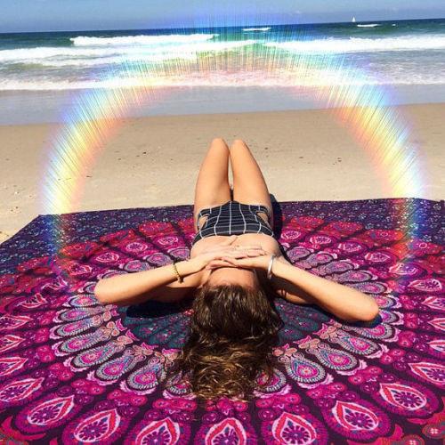 Bohemian Mandala Tapestry, Hippie Mandala Wall Hanging, Dorm Decor Tapestries, Decorative Curtains, Beach Blanket