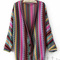 Women boho ethnic rainbow weave stripe knit v neck sweater cardigan | ebay