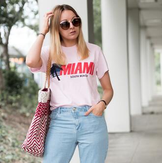 t-shirt vintage denim tote bag sunglasses blogger blogger style graphic tee