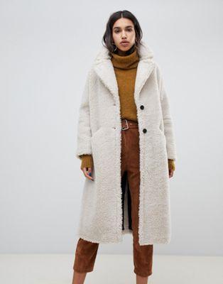 BA&SH teddy maxi coat at asos.com