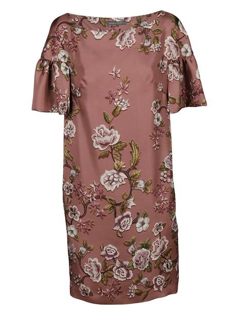 Alberta Ferretti dress print dress floral print pink