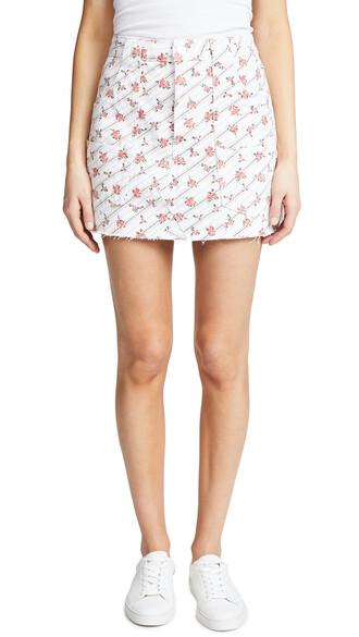 miniskirt rose print skirt