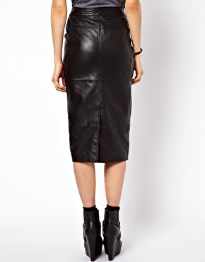ASOS | ASOS Biker Skirt in Leather at ASOS