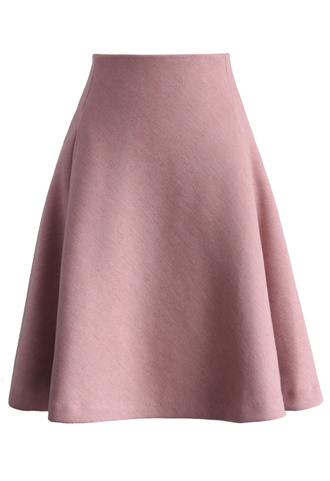 skirt tender a-line skirt in pink chicwish pink a-line