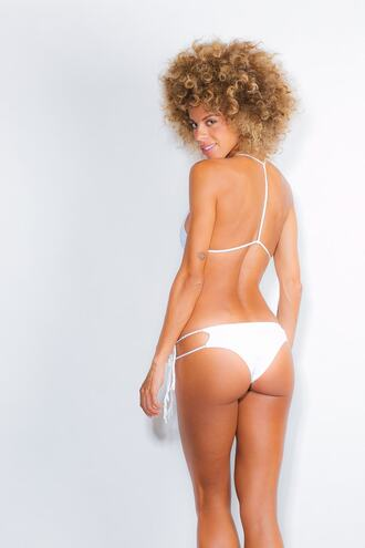 swimwear bikini bottoms cheeky soah tie sides white bikiniluxe