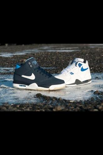 shoes nike flight classic blue white