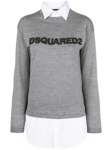 Dsquared2 sweater women cotton wool grey