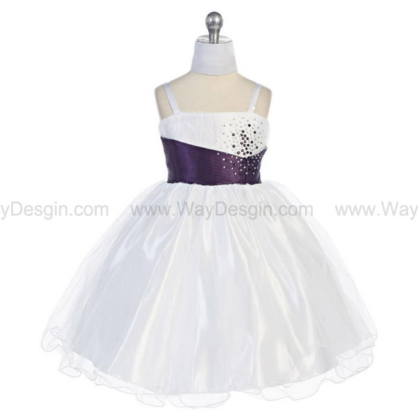 purplr flower girl dress purple dress