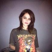 celebrity,sky ferreira,megadeth,band t-shirt,Metal Music