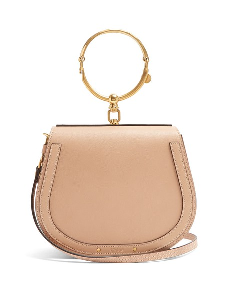 Chloe cross bag leather suede light pink light pink