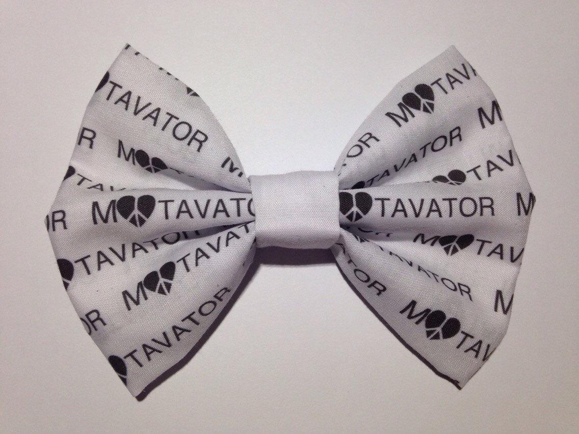 Motavator print hair bow