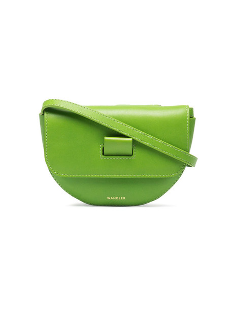 belt bag women bag leather green
