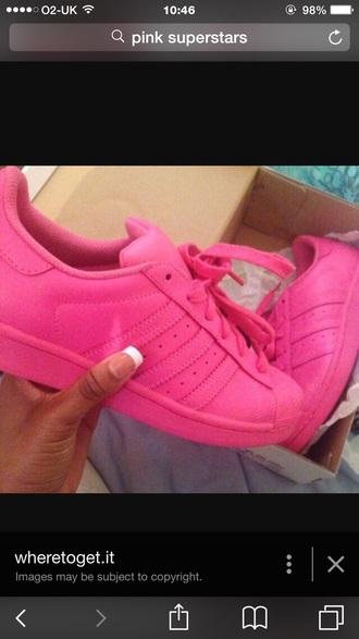 shoes pinkadidas pinksuperstars adidas adidassuperstar pink trainers adidastrainers