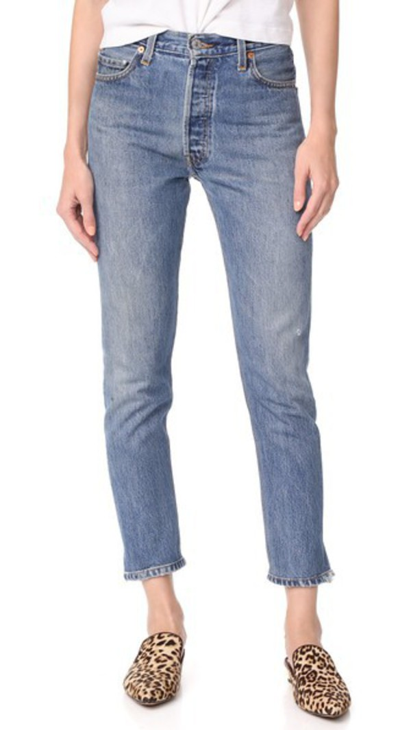 RE/DONE x Levi's High Rise Ankle Crop Jeans in indigo