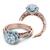 1ct. natural diamond round cut infinity halo verragio designer natural diamond engagement ring 14k rose gold gia