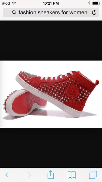 shoes red shoes studded shoes girls sneakers