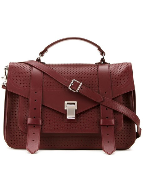 satchel women red bag