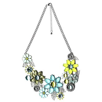 jewels necklace flowers blue style fashion blogger