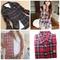 Womens british style lapel plaid & check cotton long sleeve shirts top blouse | ebay