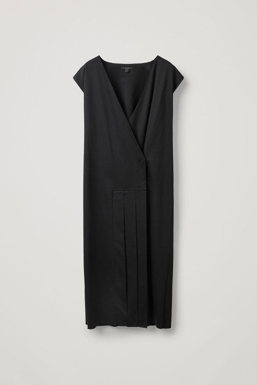 WRAP-DRESS WITH PLEATS