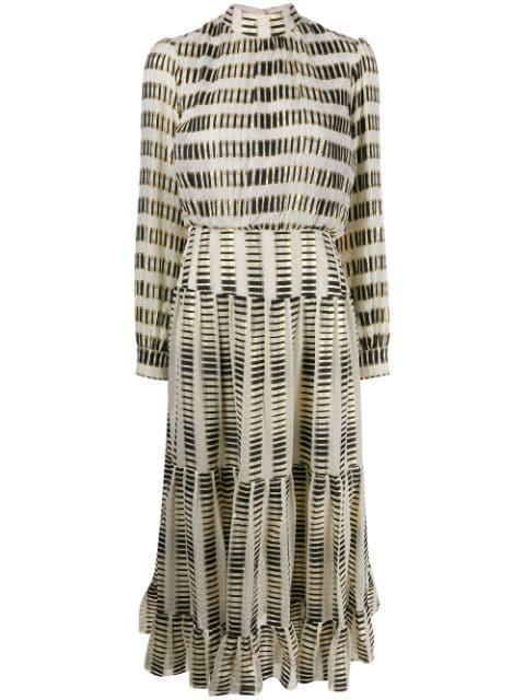 Saloni Silk Blend Midi Dress - Farfetch