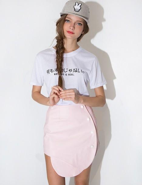 shirt nothing is real tee korean fashion korean trends