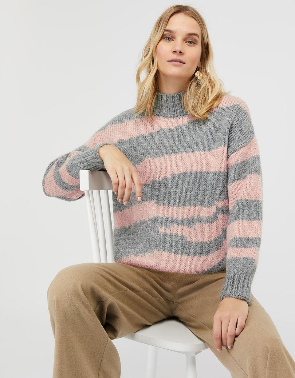 Izzie Irregular Stripe Knit Jumper