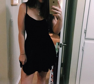 dress little black dress mini dress black skater dress